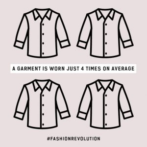 Average garment use fast fashion facts